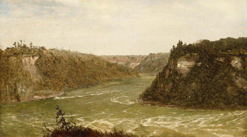 Whirlpool Niagara 1851 | John Frederick Kensett | oil painting