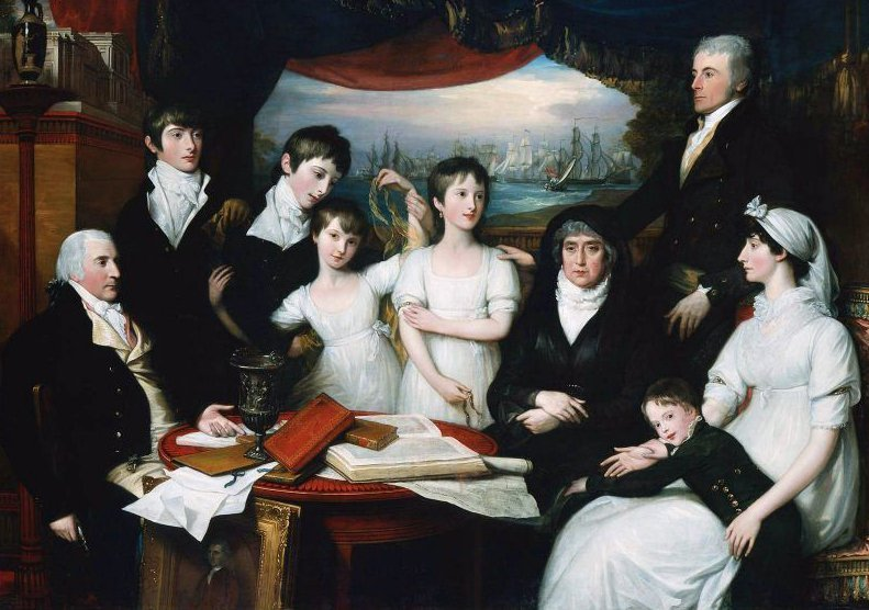 The Hope Family of Sydenham Kent 1802 | Benjamin West | oil painting