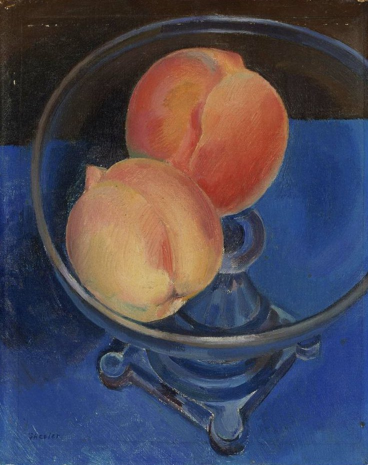 Peaches in a Bowl 1925   Charles Sheeler   oil painting