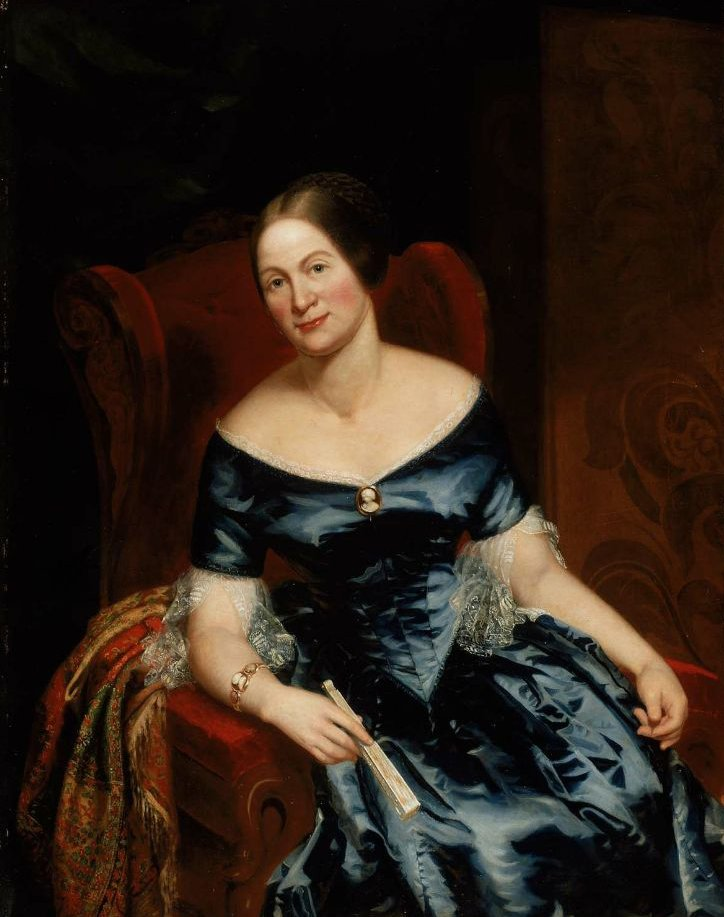Cornelia M Walter Mrs William B Richards 1850 | Thomas Ball | oil painting