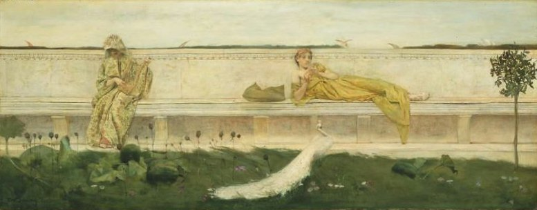 A Garden 1883 | Thomas Wilmer Dewing | oil painting