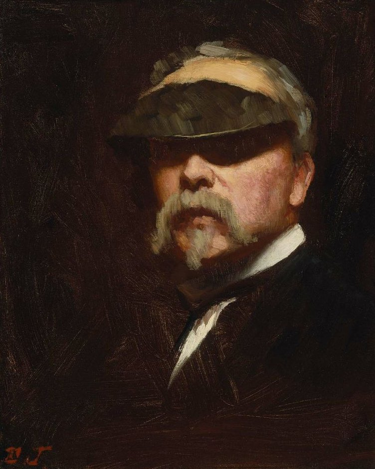 Self Portrait 1885   Eastman Johnson   oil painting