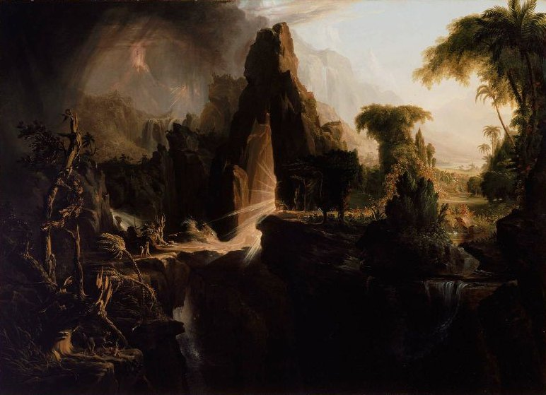 Expulsion from the Garden of Eden 1828 | Thomas Cole | oil painting