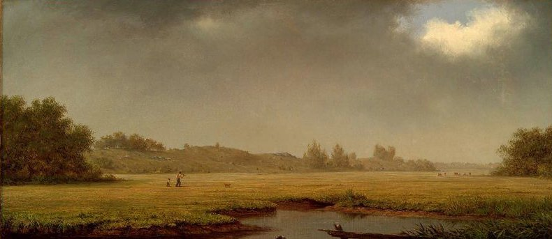 Cloudy Day Rhode Island 1861 | Martin Johnson Heade | oil painting