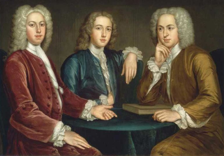 Daniel Peter and Andrew Oliver 1732 | John Smibert | oil painting