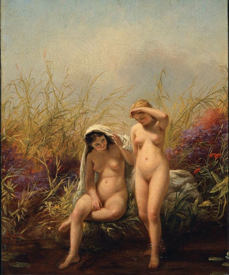 American Beauties 1867 | Jerome B Thompson | oil painting
