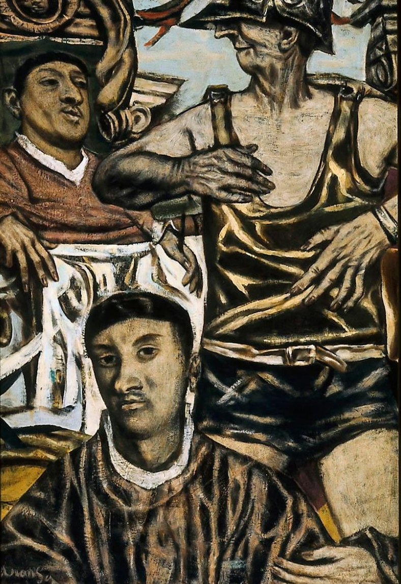 Christ Before Pilate 1949 | David Aronson | oil painting