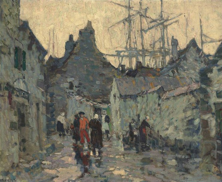 An Old Time Fishing Village 1926 | Harry Aiken Vincent | oil painting