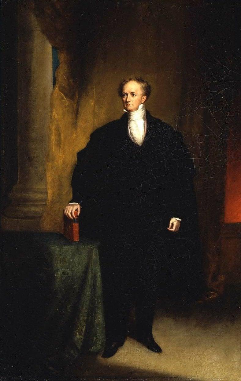 Abbott Lawrence 1842   Chester Harding   oil painting