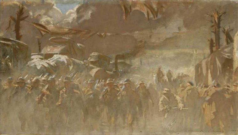 The Road 1918   John Singer Sargent   oil painting