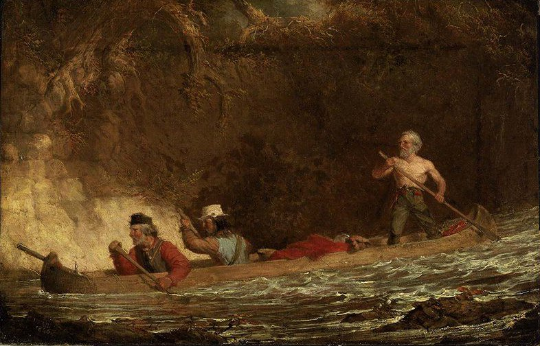 The Voyageurs 1846 | Charles Deas | oil painting