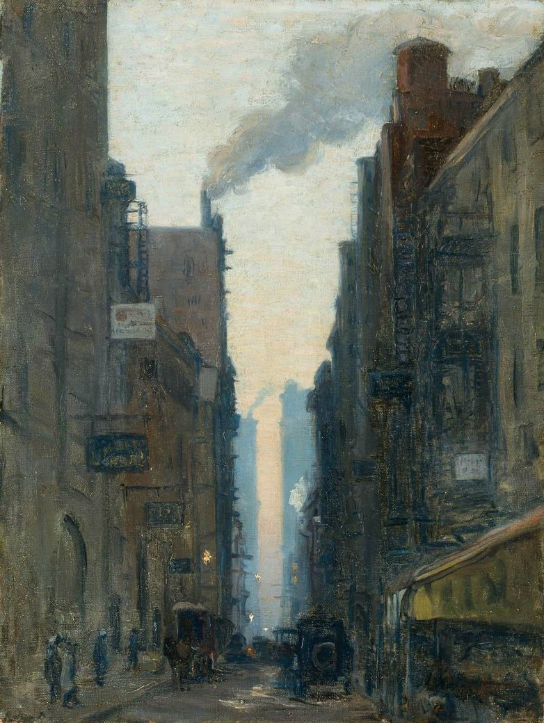 New York Street Scene 1910 | Ernest Lawson | oil painting