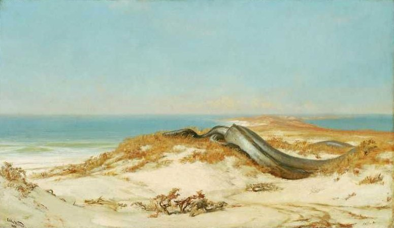 The Lair of the Sea Serpent 1864 | Elihu Vedder | oil painting