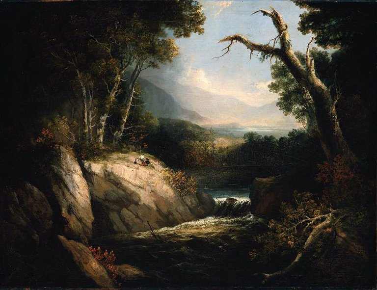 Lakes and Mountains 1820s or 1830s | Alvan Fisher | oil painting