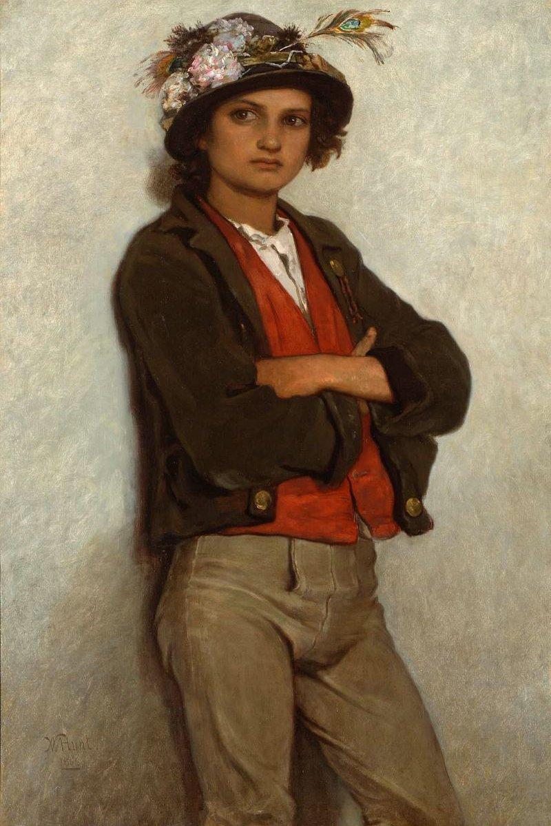 Italian Peasant Boy 1866 | William Morris Hunt | oil painting