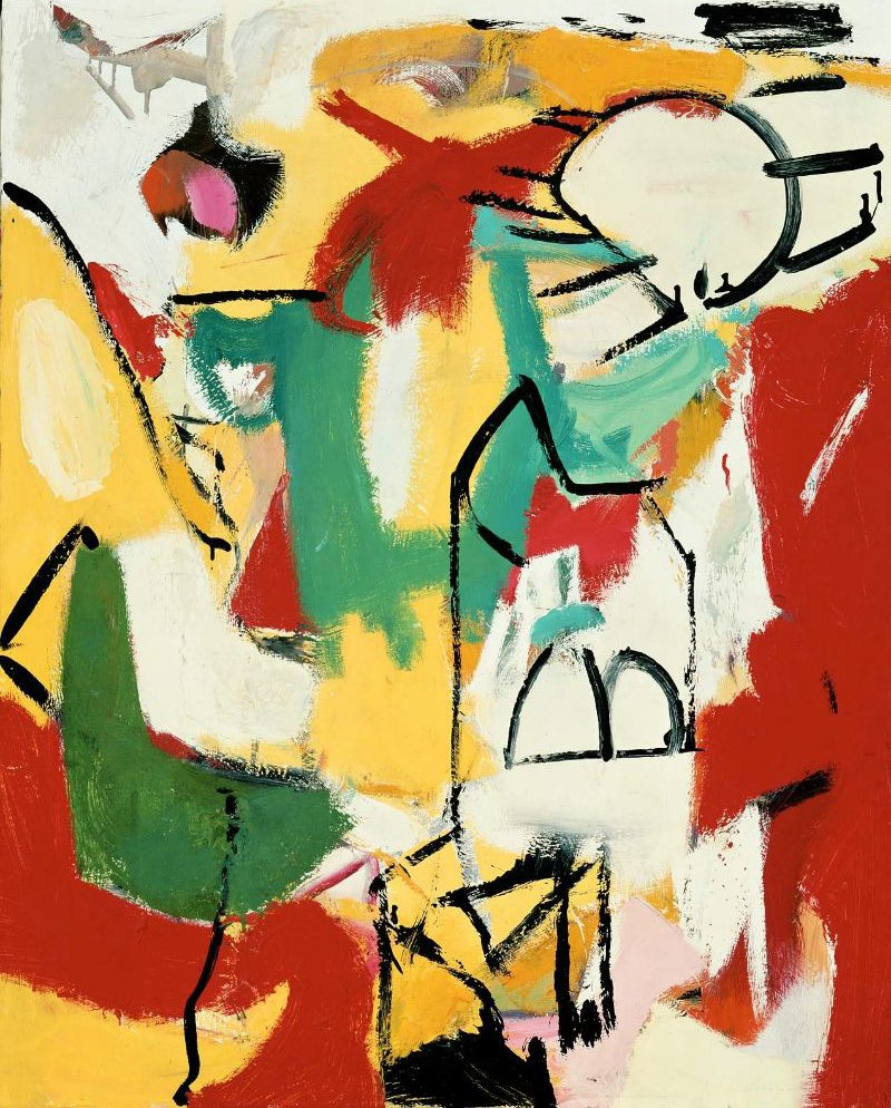 Black on Green Red and Yellow 1948 | Franz Kline | oil painting