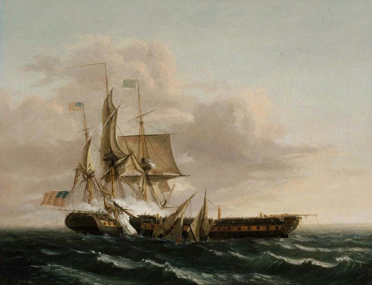 Engagement Between the Constitution and the Guerriere 1813 | Thomas Birch | oil painting