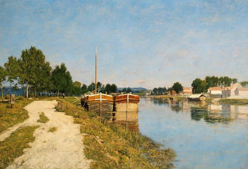 Morning on the Loing at Moret 1895 | William Lamb Picknell | oil painting