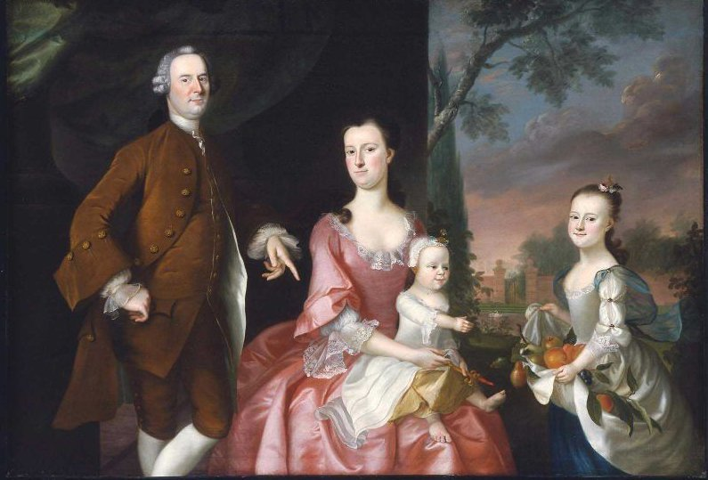 Isaac Winslow and His Family 1755 | Joseph Blackburn | oil painting