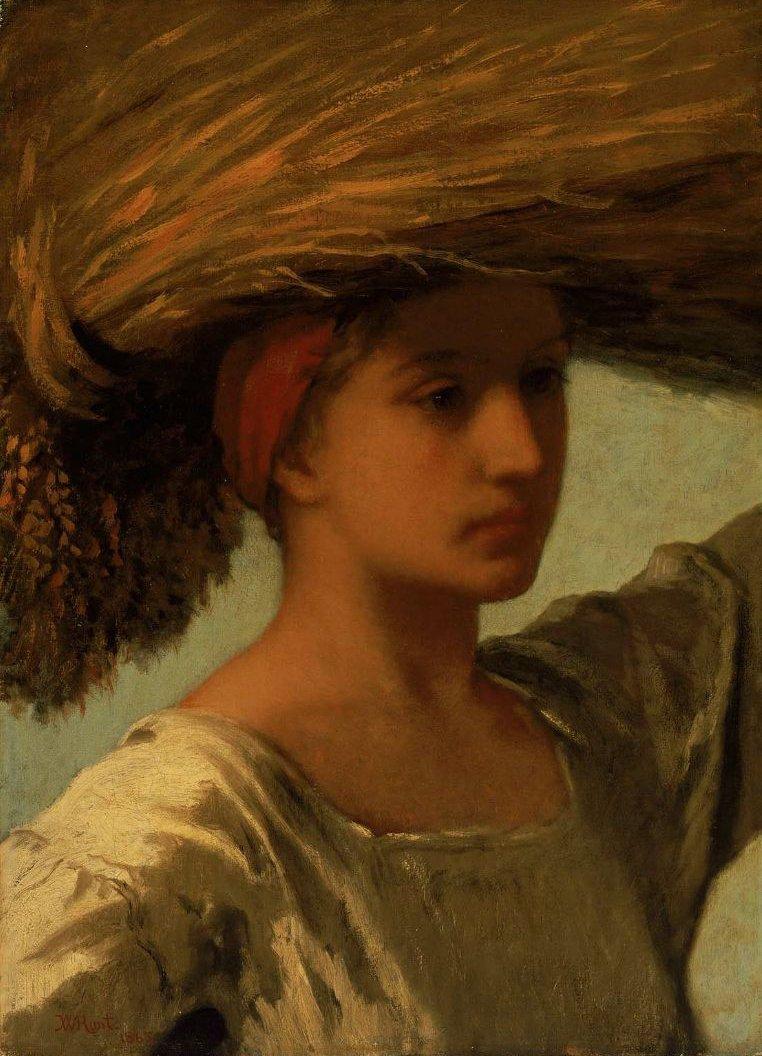 The Gleaner 1865 | William Morris Hunt | oil painting