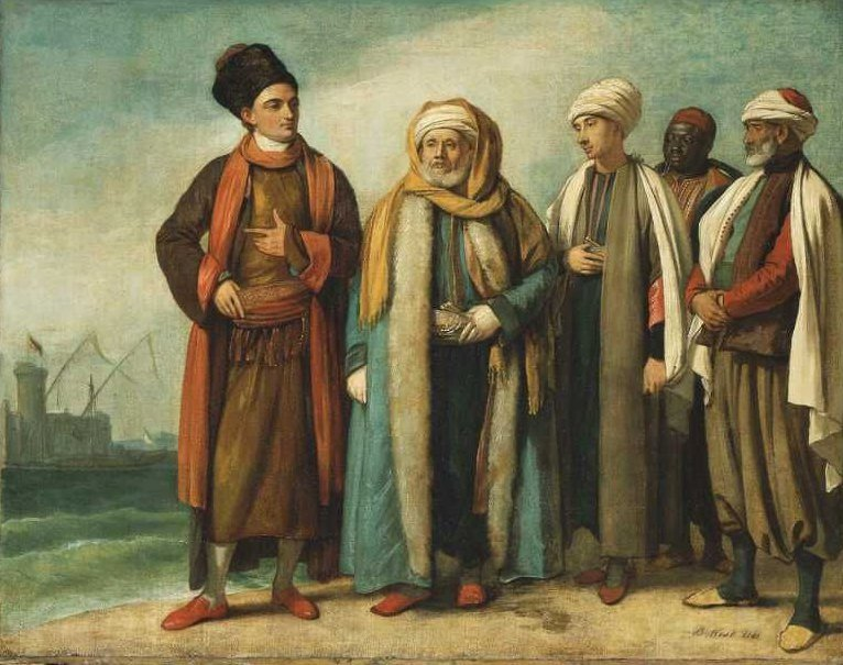 The Ambassador from Tunis with His Attendants as He Appeared in England in 1781 1781 | Benjamin West | oil painting
