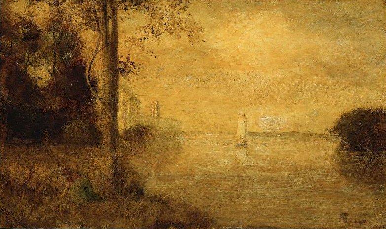 The Golden Hour 1870s | Albert Pinkham Ryder | oil painting