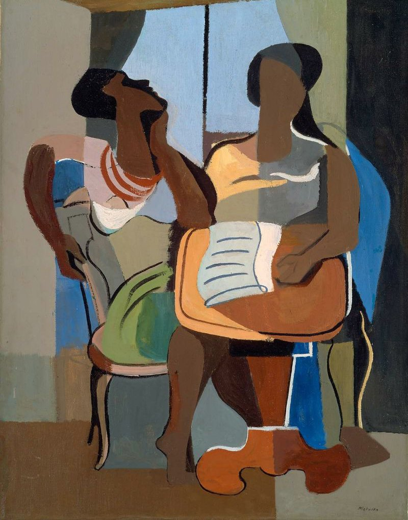 Conversation 1929 | Jan Matulka | oil painting