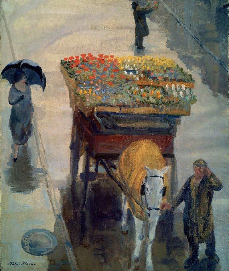 Flowers of Spring 1924   John Sloan   oil painting