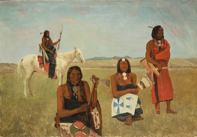 Indians near Fort Laramie 1859 | Albert Bierstadt | oil painting