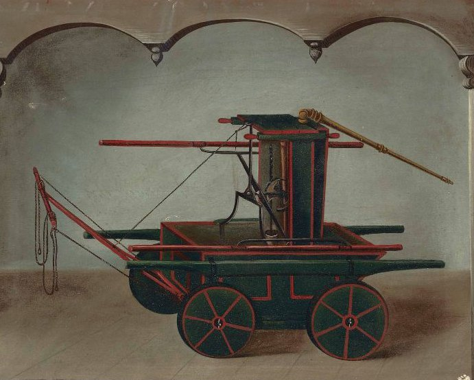 Fire Engine 1860 | Unidentified artist | oil painting