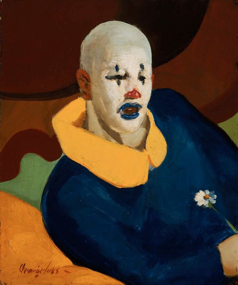 A Clown 1929 | George Benjamin Luks | oil painting