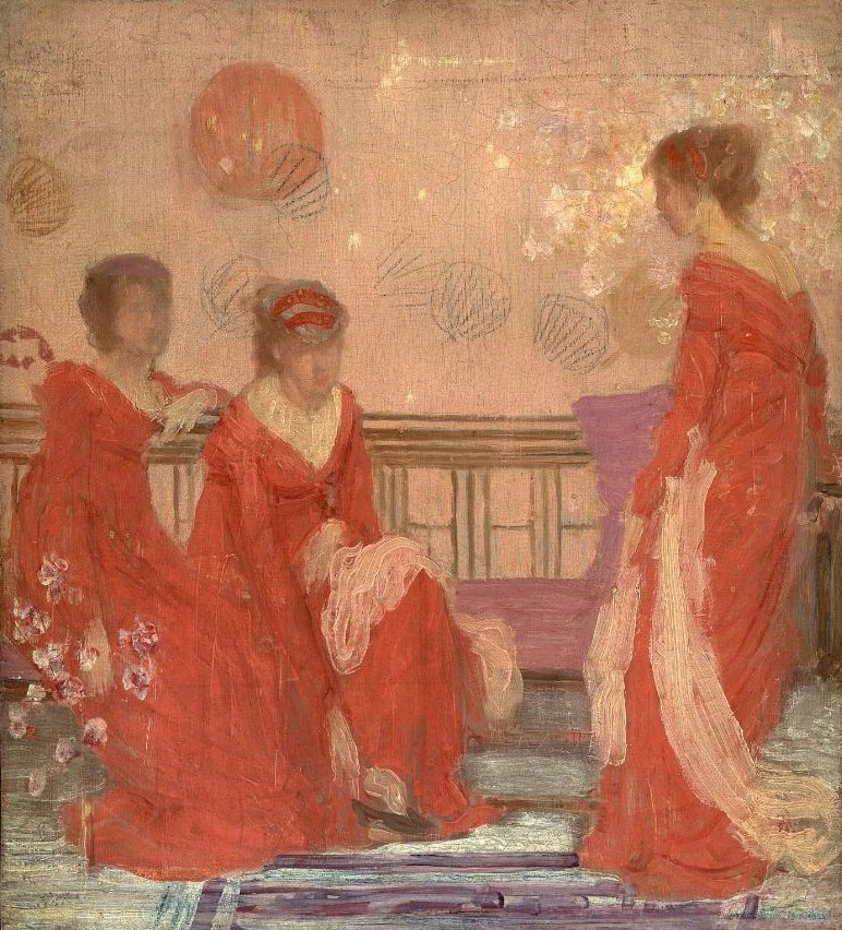Harmony in Flesh Colour and Red 1869 | James Abbott McNeill Whistler | oil painting