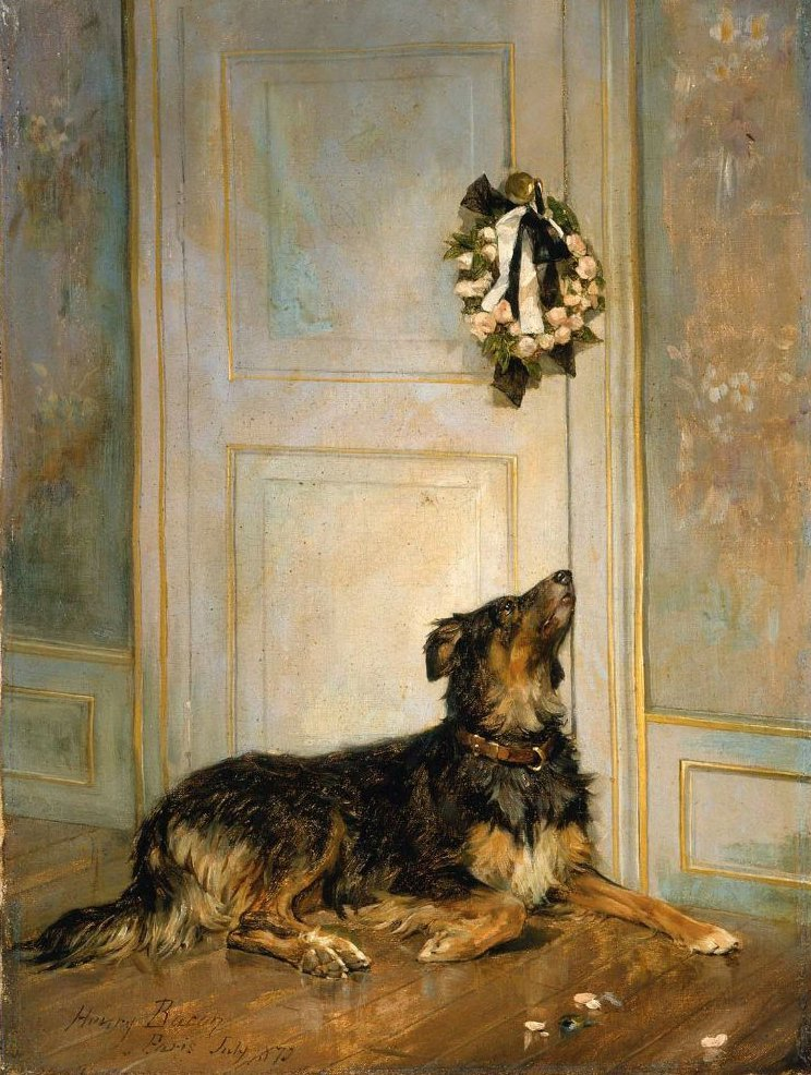Dog in Mourning 1870 | Henry Bacon | oil painting