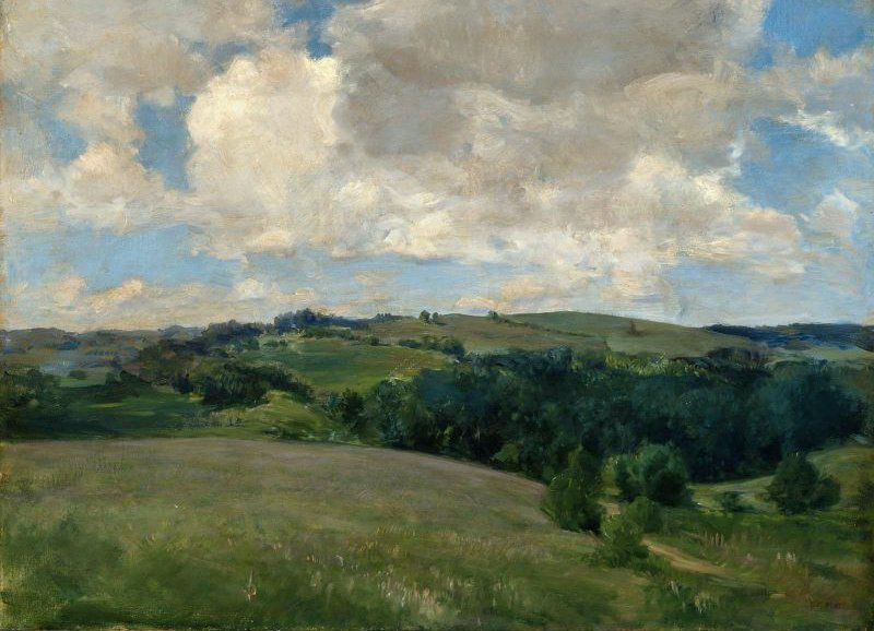 Clouds Landscape near Cornish 1894 | Charles Adams Platt | oil painting