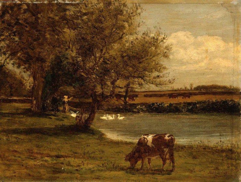 Landscape at Newport 1860 | William Morris Hunt | oil painting