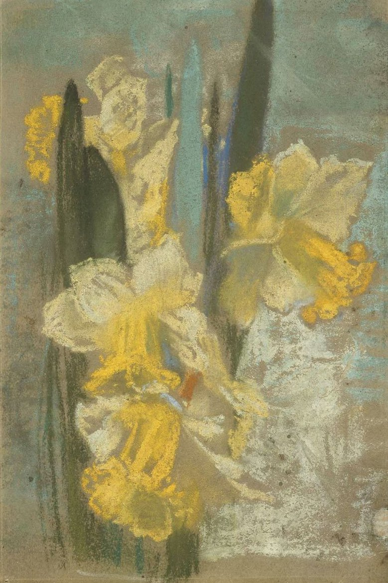 Winter Daffodils 1902 | Sarah Wyman Whitman | oil painting