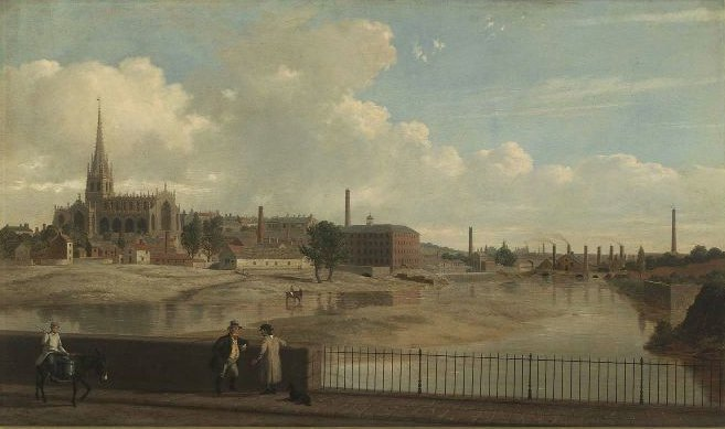 Rotherham Yorkshire England 1852   Thomas Hewes Hinckley   oil painting