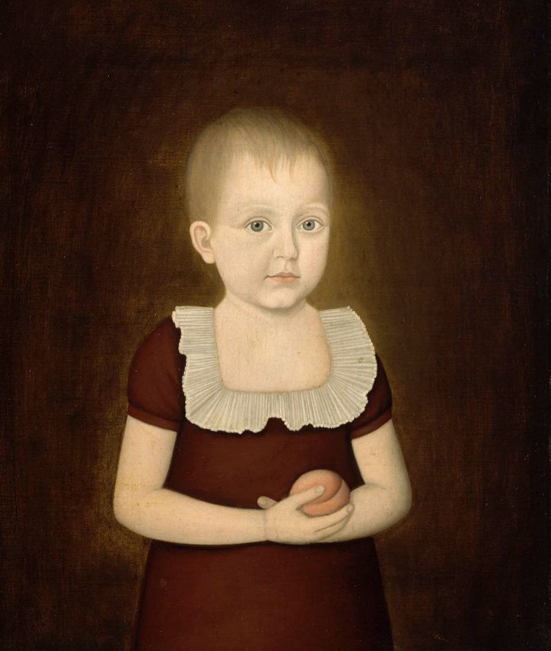 Child with a Peach 1810 | John Brewster Jr | oil painting