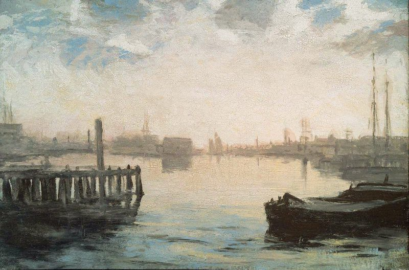 Gloucester Harbor 1877 | William Morris Hunt | oil painting