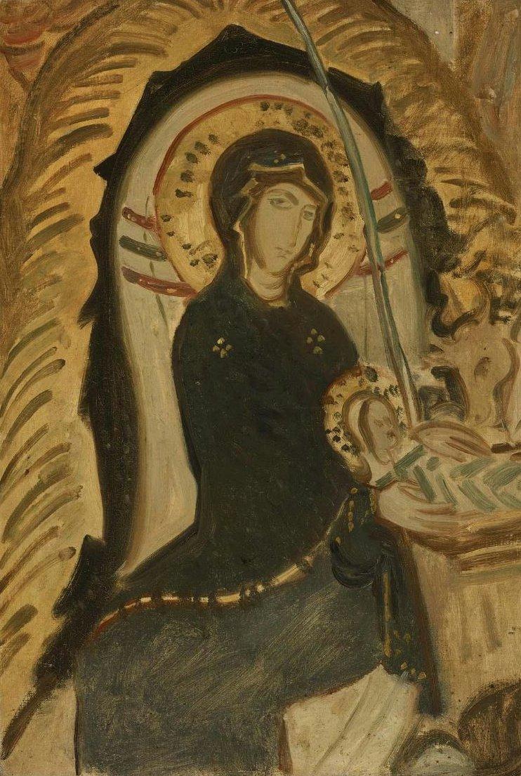The Virgin 1897 or 1901   John Singer Sargent   oil painting