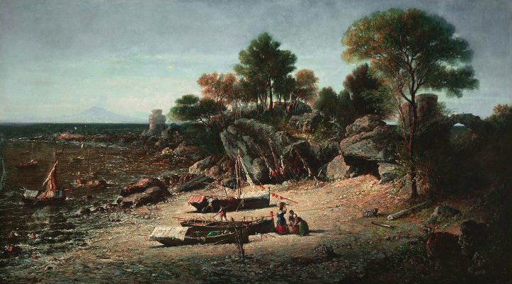 View on the Italian Coast near Naples 1866 | George Loring Brown | oil painting