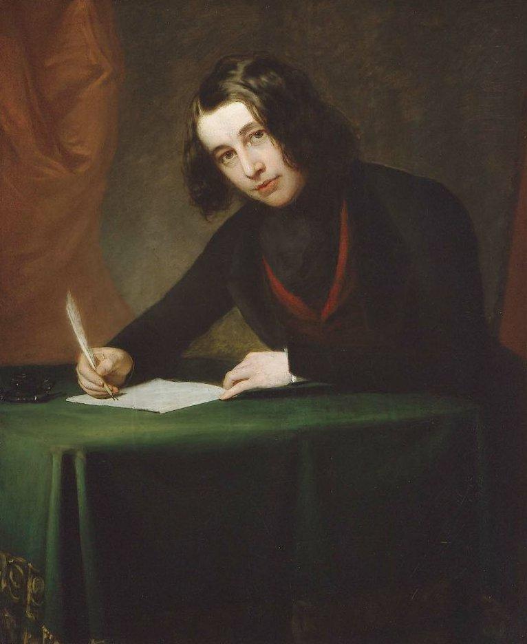 Charles Dickens 1842   Francis Alexander   oil painting