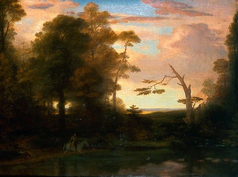 Landscape American Scenery Time Afternoon with a Southwest Haze 1835 | Washington Allston | oil painting