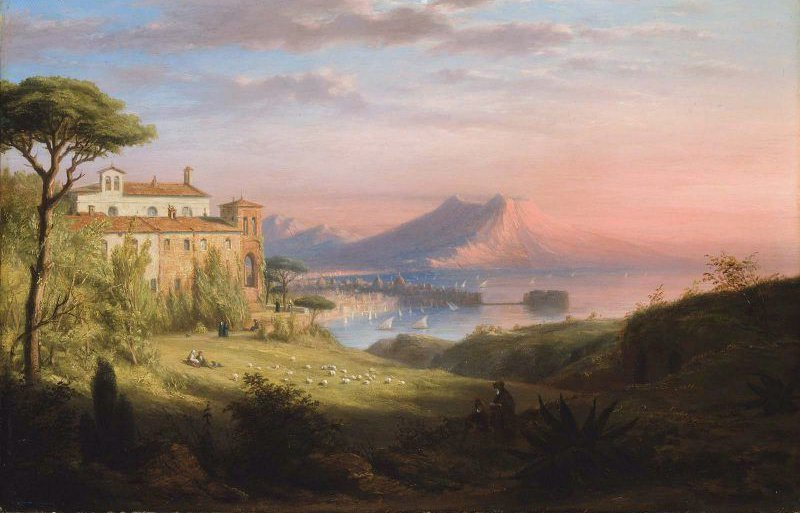 Bay of Naples 1830 | Robert Walter Weir | oil painting