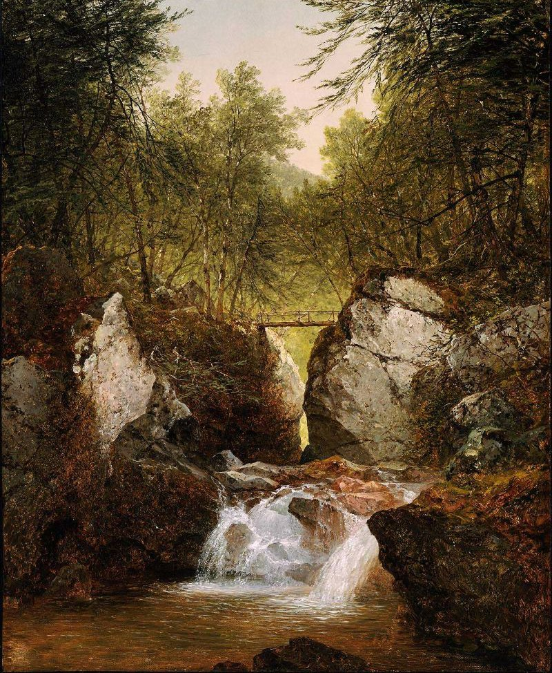 Bash Bish Falls Massachusetts 1855 | John Frederick Kensett | oil painting