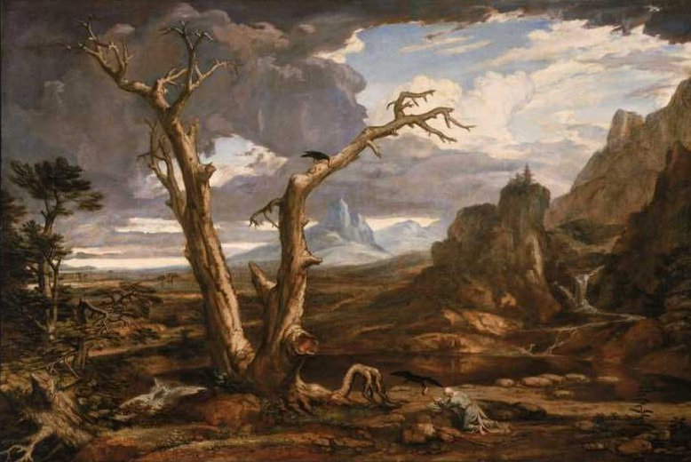 Elijah in the Desert 1818 | Washington Allston | oil painting