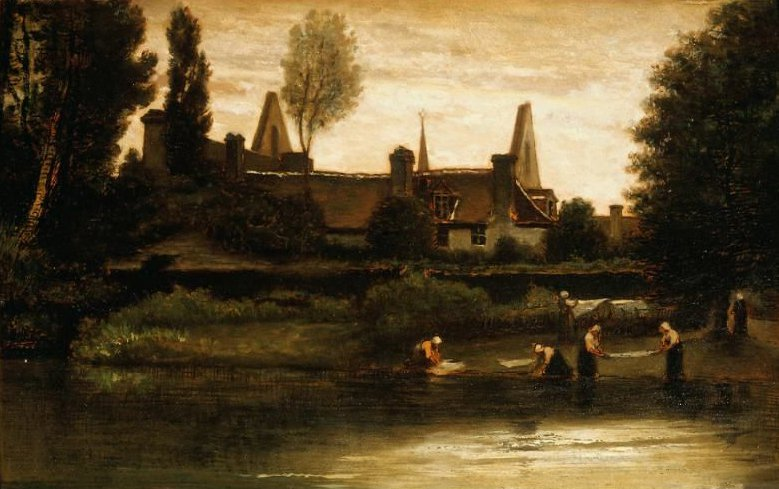 By the River 1850s | William Morris Hunt | oil painting