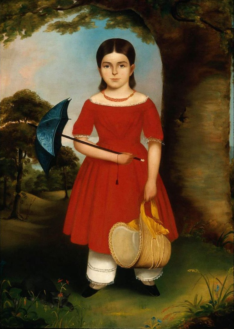 Girl in Red 1840s | Unidentified artist | oil painting