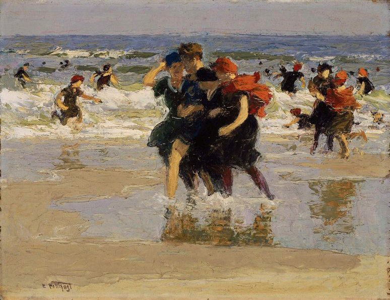 At the Seaside 1905 | Edward Henry Potthast | oil painting