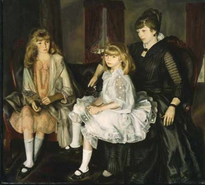 Emma and Her Children 1923 | George Wesley Bellows | oil painting